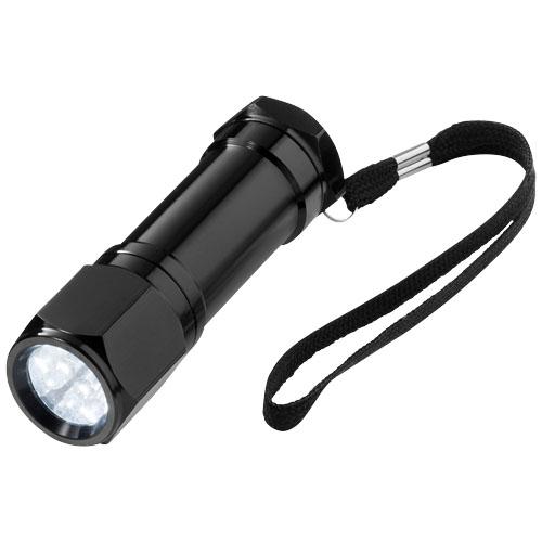 Trug 8-LED torch light in black-solid