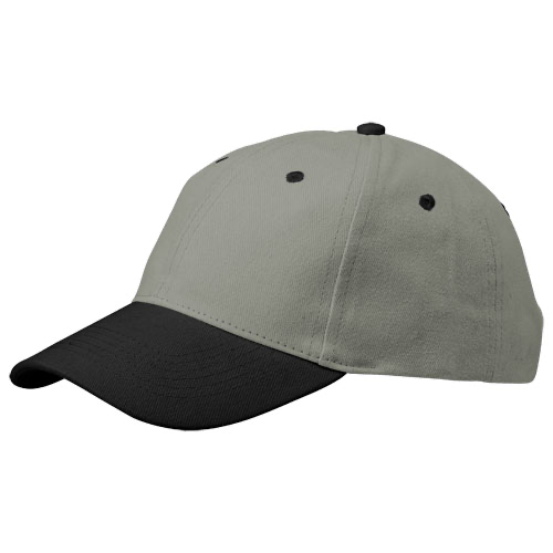 Grip 6 panel cap in grey-and-yellow