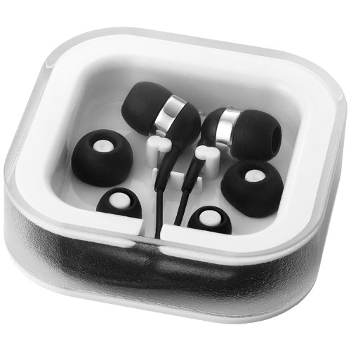 Sargas earbuds with microphone in black-solid