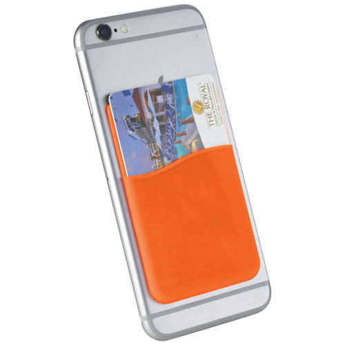 Slim Silicone Card Wallet in orange