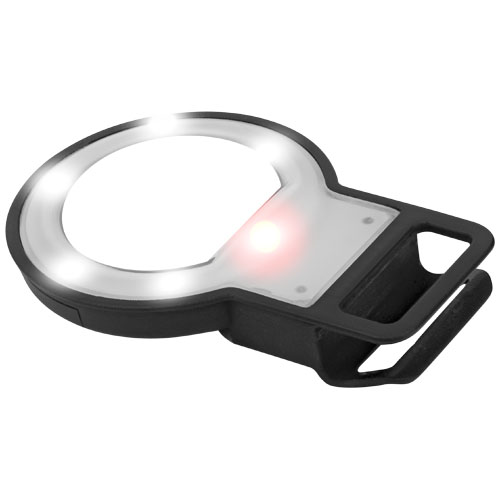 Reflekt LED mirror and flashlight for smartphones in black-solid