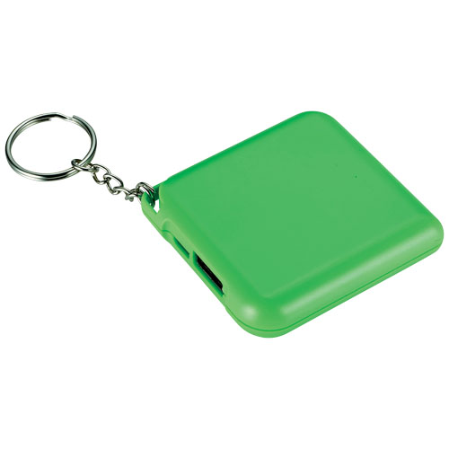 Emergency Power bank with Keychain 1800mAh in lime