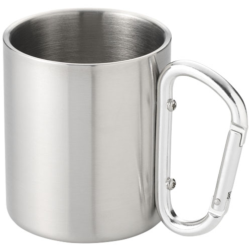Alps Insulated carabiner mug in silver