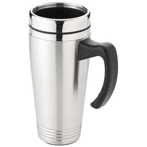 Pasadena 500 ml insulated mug in silver