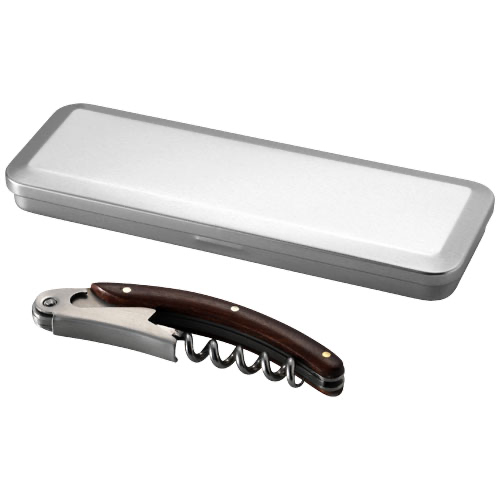 Morris wooden waitress knife in tin case in