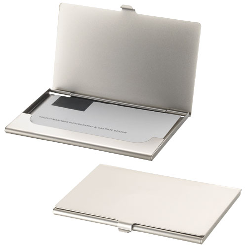 Singapore business card holder in silver