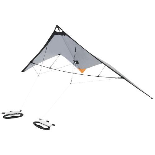 Nile delta kite in silver-and-black-solid