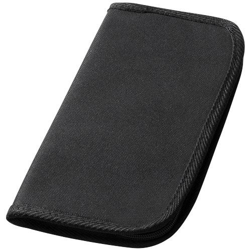 Bilbao travel wallet in black-solid