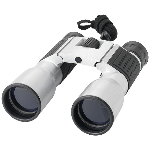 Bruno 8 x 32 binoculars in silver-and-black-solid