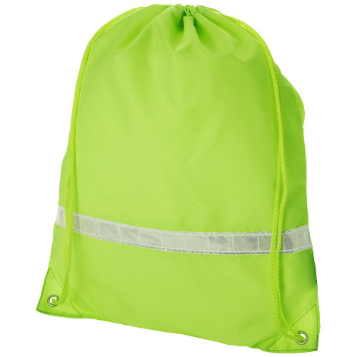 Premium reflective drawstring backpack in