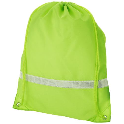 Premium reflective drawstring backpack in neon-yellow