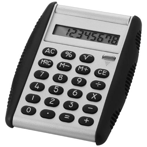 Magic calculator in silver-and-black-solid