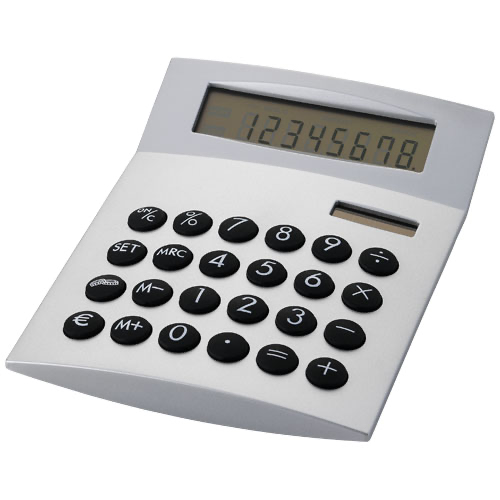 Face-it calculator in silver
