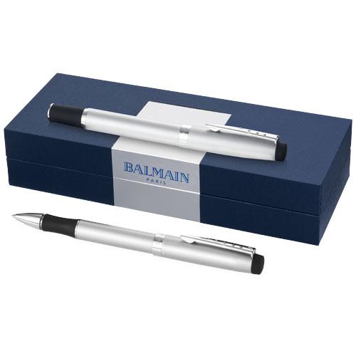Ballpoint pen gift set in chrome