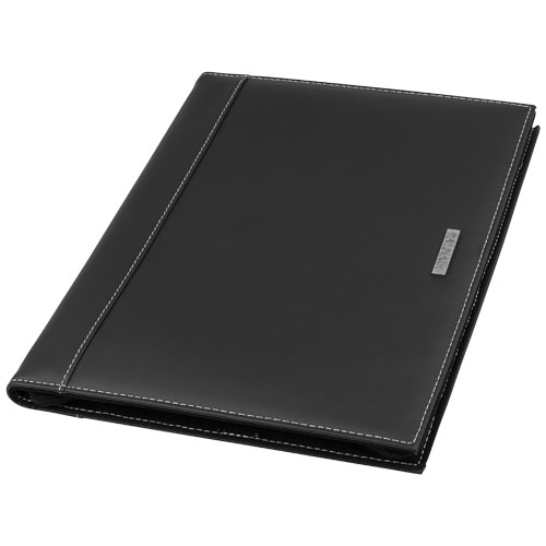 A4 zipper portfolio in brown