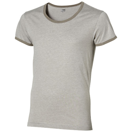Chip short sleeve t-shirt. in heather-grey