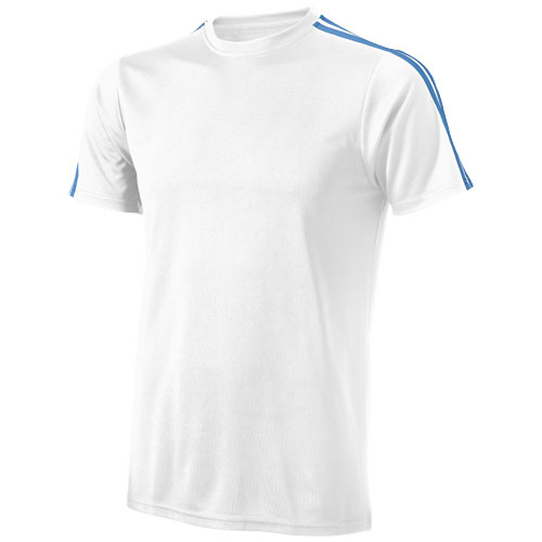 Baseline short sleeve t-shirt. in white-solid-and-sky-blue