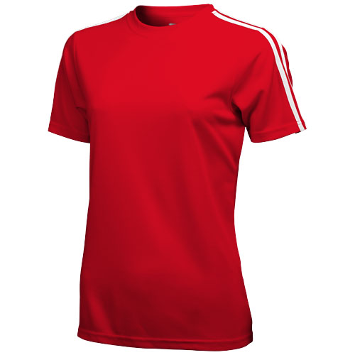Baseline short sleeve ladies t-shirt. in red