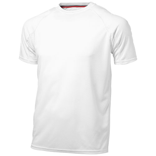 Serve short sleeve men's cool fit t-shirt in white-solid