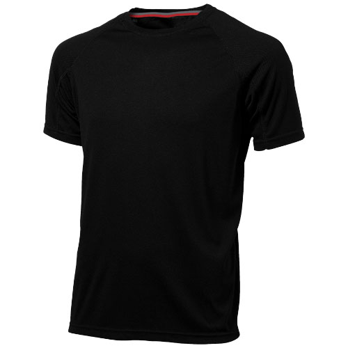 Serve short sleeve men's cool fit t-shirt in black-solid