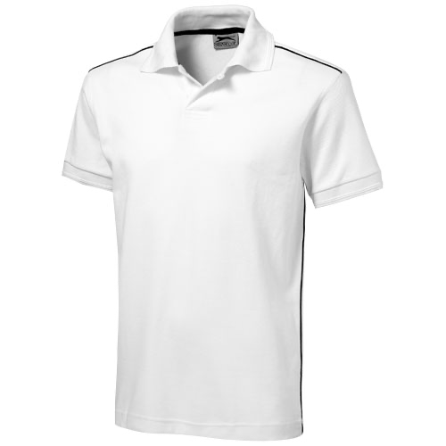 Backhand short sleeve Polo in white-solid