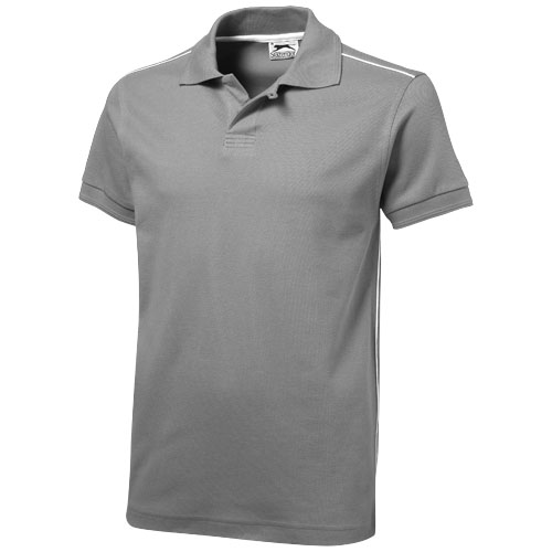 Backhand short sleeve Polo in grey