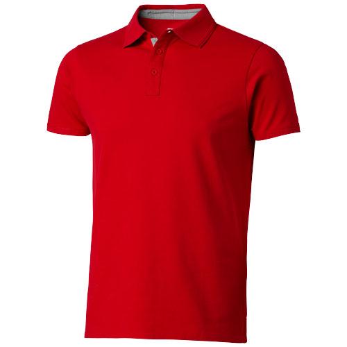Hacker short sleeve polo in red