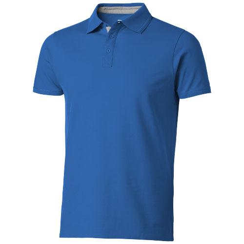 Hacker short sleeve polo in sky-blue