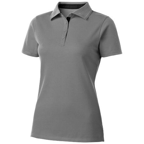 Hacker short sleeve ladies polo in grey