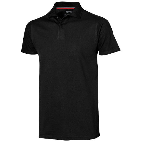 Advantage short sleeve men's polo in black-solid