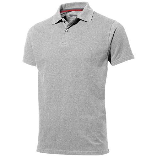 Advantage short sleeve men's polo in grey-melange
