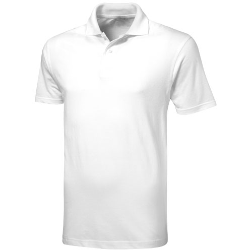 Advantage short sleeve men's polo in white-solid
