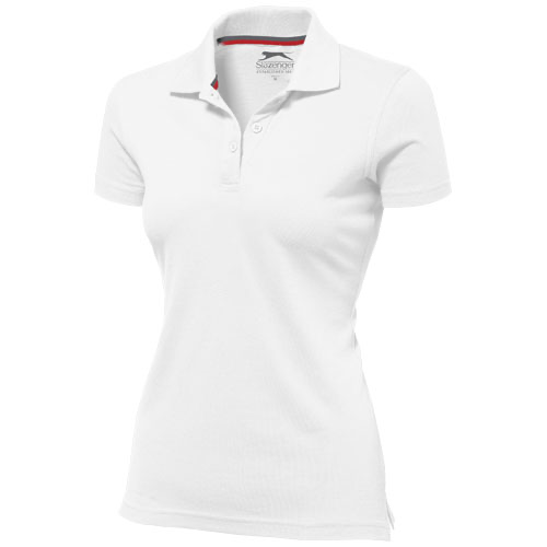 Advantage short sleeve women's polo in white-solid