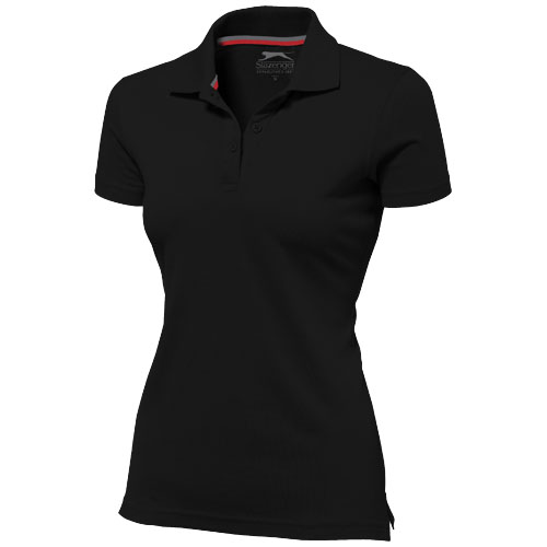 Advantage short sleeve women's polo in black-solid