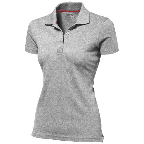 Advantage short sleeve women's polo in grey-melange