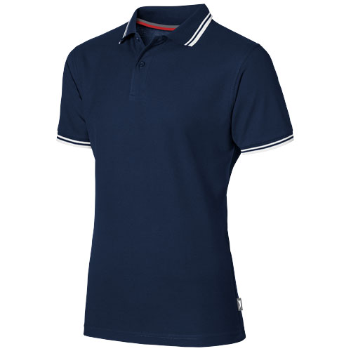 Deuce short sleeve men's polo with tipping in navy