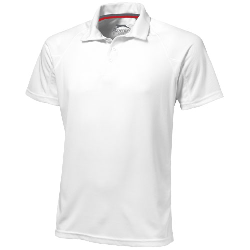 Game short sleeve men's cool fit polo in white-solid