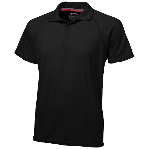 Game short sleeve men's cool fit polo in black-solid