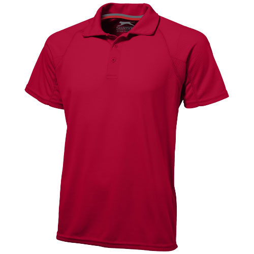 Game short sleeve men's cool fit polo in red
