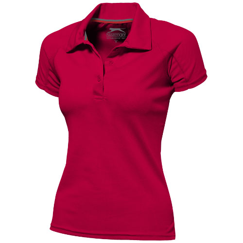 Game short sleeve women's cool fit polo in red