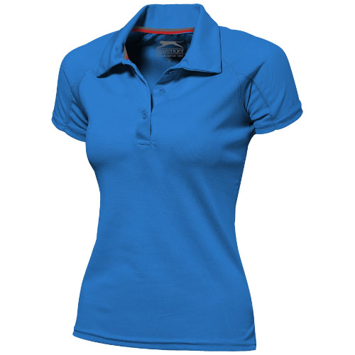 Game short sleeve women's cool fit polo in sky-blue