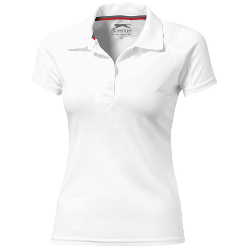 Game short sleeve women's cool fit polo in white-solid
