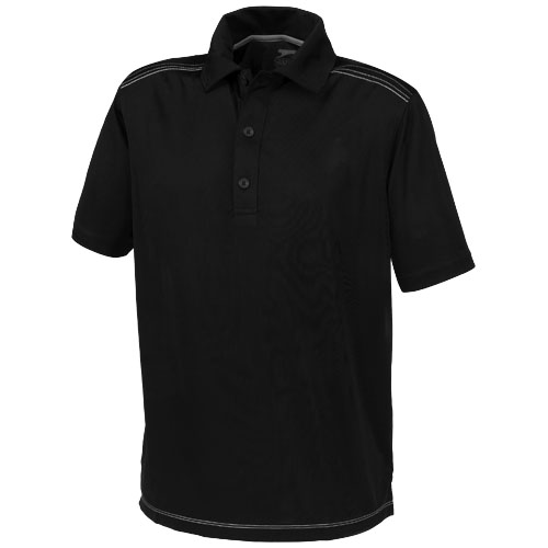 Receiver short sleeve Polo in black-solid
