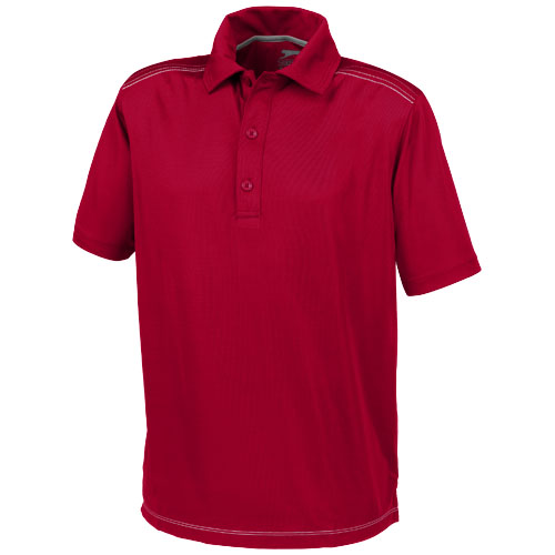 Receiver short sleeve Polo in dark-red