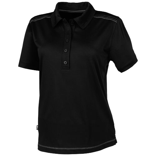 Receiver short sleeve ladies Polo in black-solid