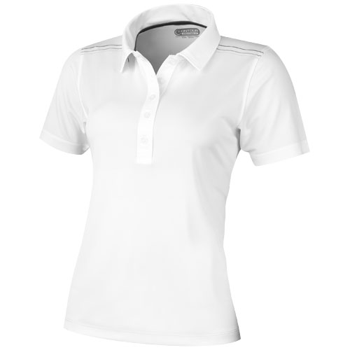 Receiver short sleeve ladies Polo in white-solid