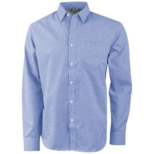 Net long sleeve shirt in blue