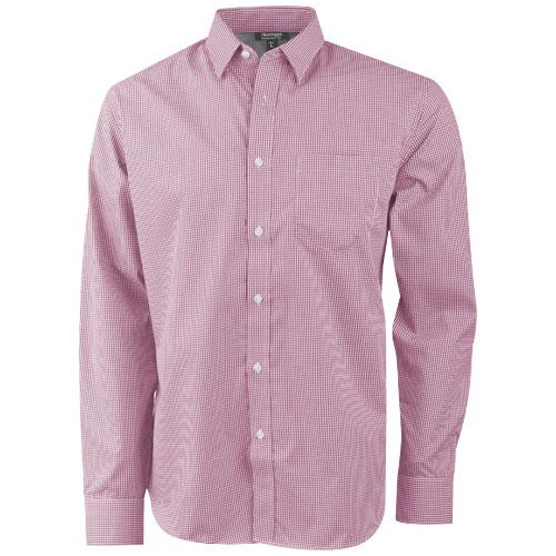 Net long sleeve shirt in red