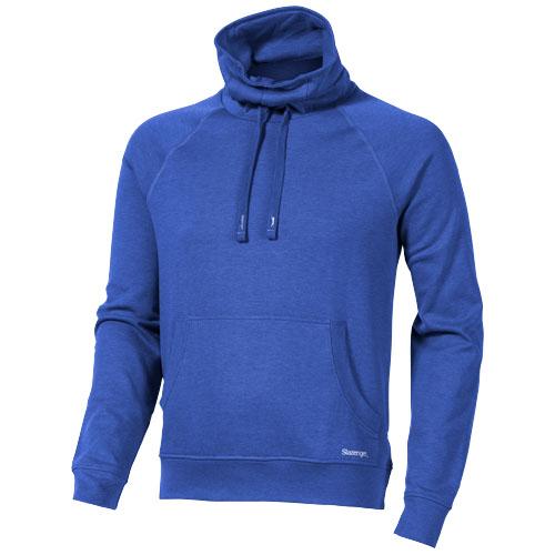Racket sweater in heather-blue