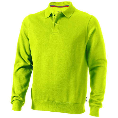 Referee polo sweater in apple-green